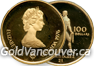 Canadian 22K $100 gold coin from 1976 Montreal Olympics