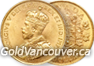 Canadian $10 gold coin from 1912-1914