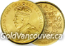 Canadian $5 gold coin from 1912 to 1914