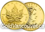 Canadian one ounce maple leaf gold coin