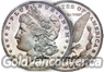 United States Morgan and Peace Silver Dollar coins